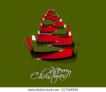 Modern christmas tree background, eps10 vector illustration