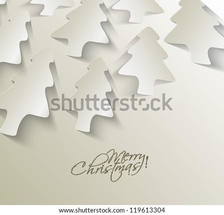 Modern christmas tree background, eps10 vector illustration