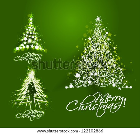 Modern christmas tree illustration design,