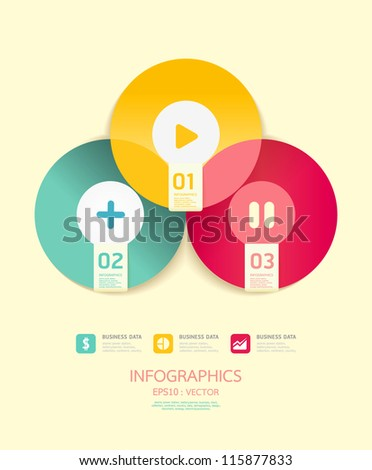 Modern Circle Design soft color template  / can be used for infographics / numbered banners/ graphic or website layout vector