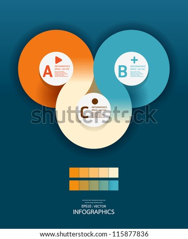 Modern Circle Design template  / can be used for infographics / numbered banners/ graphic or website layout vector