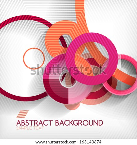 Modern circle geometric shape background #163143674