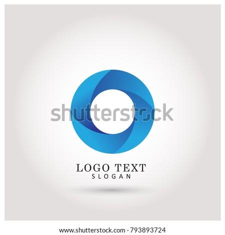 Modern Circle & O Logo. Symbol & Icon Vector Template.