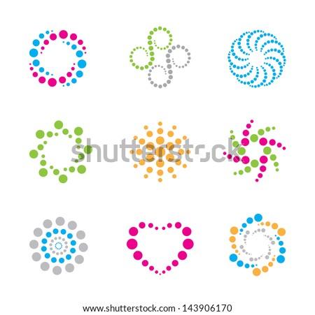 Modern circles symbol and icon