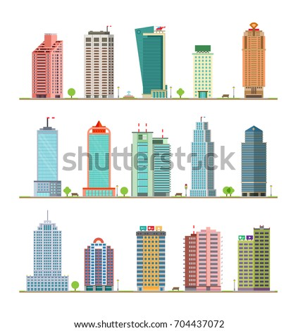 modern city buildings and