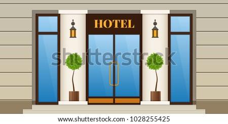 modern city facade of hotel