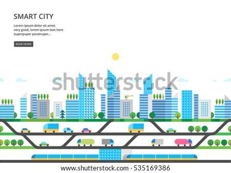 modern city illustration in