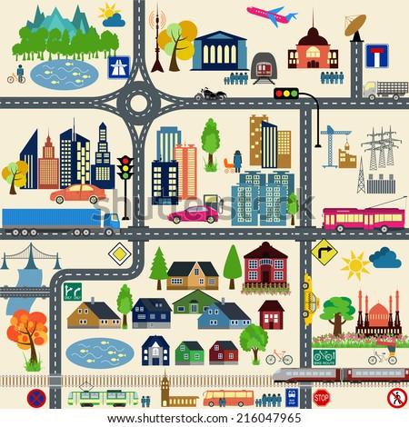 City map generator  City map example … Stock Photo 314511350