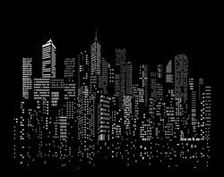 Modern City skyline, city silhouette, vector illustration in flat design