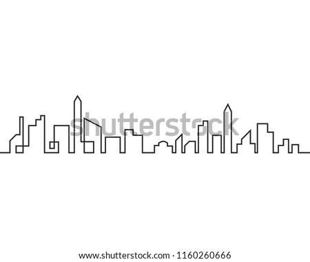 modern city skyline  city