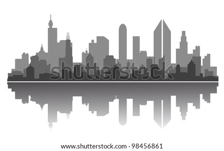 Modern city skyline for business or architecture concept design. Jpeg version also available in gallery