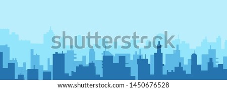 Modern City Skyline silhouette - abstract futuristic business background. Vector illustration
