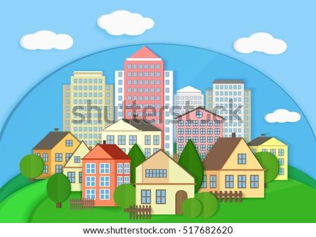 modern city town cardboard