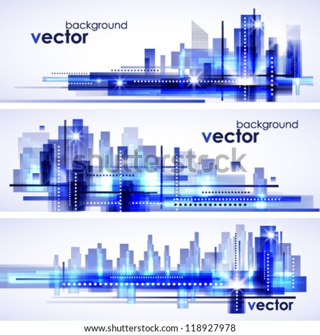 Modern cityscape concept background