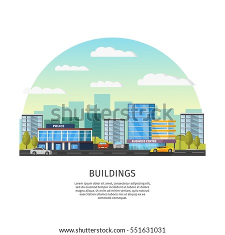 modern cityscape template with