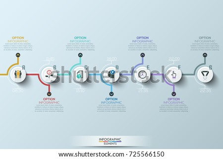 Modern clean business circle origami style timeline banner. Vector.