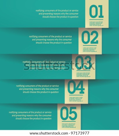 Modern, clean, Design template - fully editable / can be used for infographics / numbered banners / horizontal blue cutout lines / graphic or website layout vector - stock vector