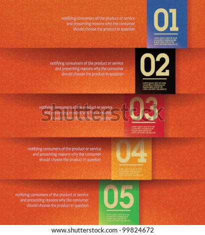 Modern, clean, design template - fully editable / can be used for infographics / numbered banners / horizontal orange cutout lines / graphic or website layout vector