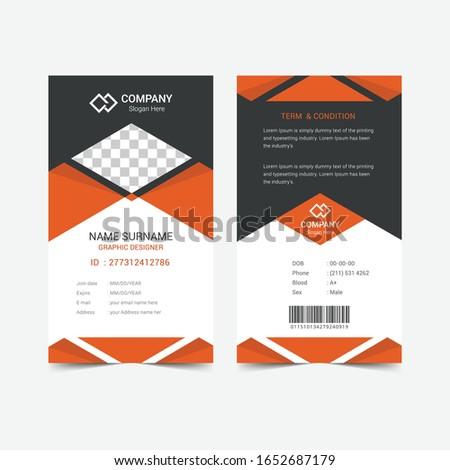 Modern Clean ID Card VectorTemplate