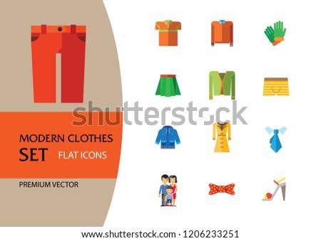 1d1cb32c8 ... Stock-vector-modern-clothes-icon-set-t-shirt- ...