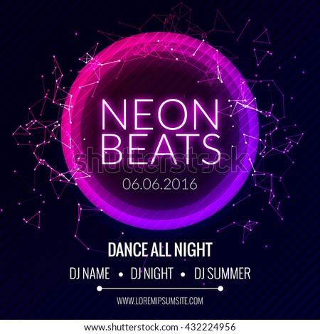 modern club music neon beats