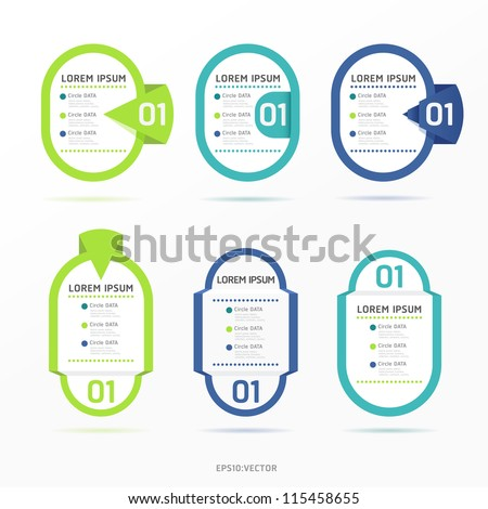 Modern color  Design label  / can be used for infographics / numbered banners / horizontal cutout lines / graphic or website layout vector