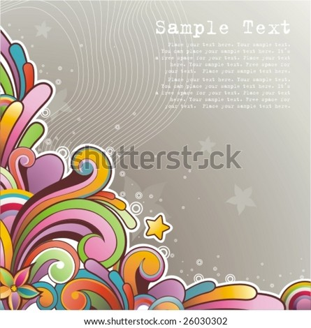 Modern colored background with free space for your text