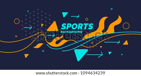 Modern colored poster for sports. Vector illustration - Shutterstock ID 1094634239