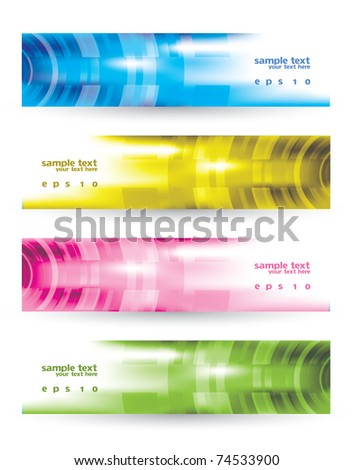 Modern Colorful Banner Set