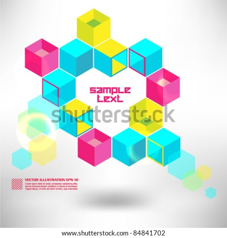 modern colorful boxes design
