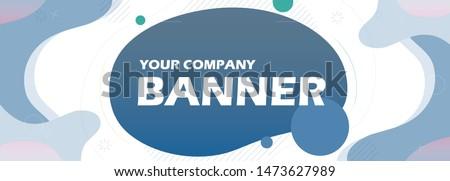 Modern colorful business banner vector illustration