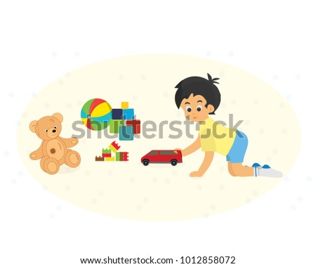 modern colorful children's toys
