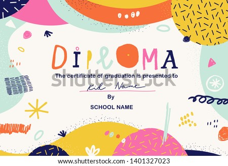 modern colorful diploma