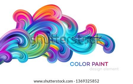 Modern colorful flow poster. Wave Liquid shape color paint. Art design for your design project. Vector illustration EPS10