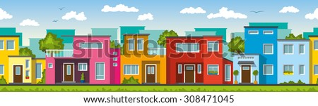 Modern colorful houses, also usable as a continuous background #308471045