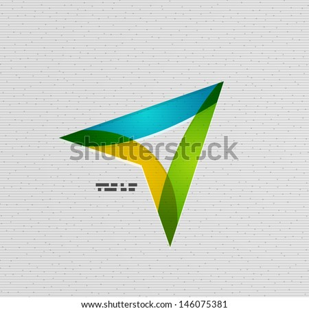 Modern colorful paper arrow vector design