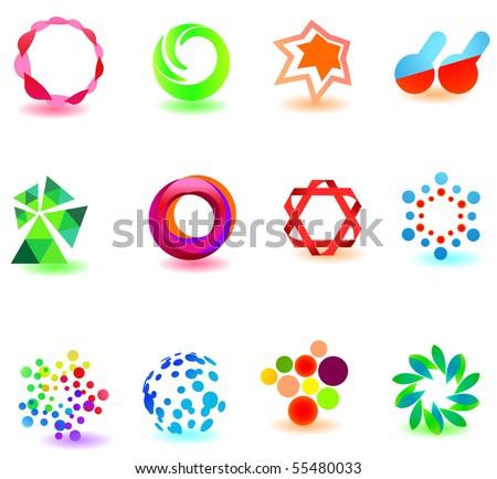 modern colorful symbols for