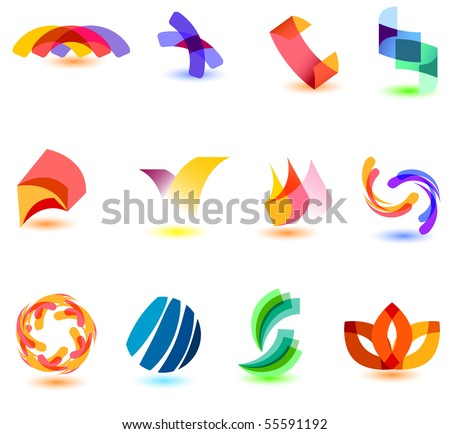 modern colorful symbols for