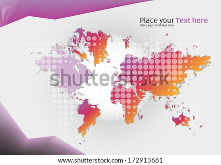 modern colorful world map