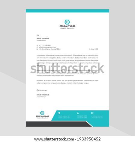 Modern company letterhead Template Design