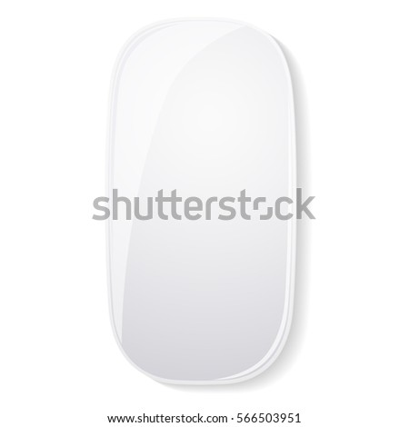 modern computer mouse isolated