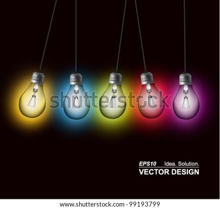 modern conceptual digital light bulb design