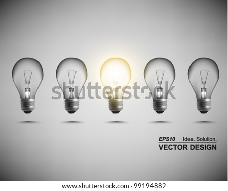 modern conceptual digital light bulb design - stock vector