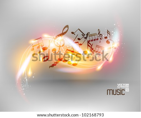 modern conceptual music notes vector design