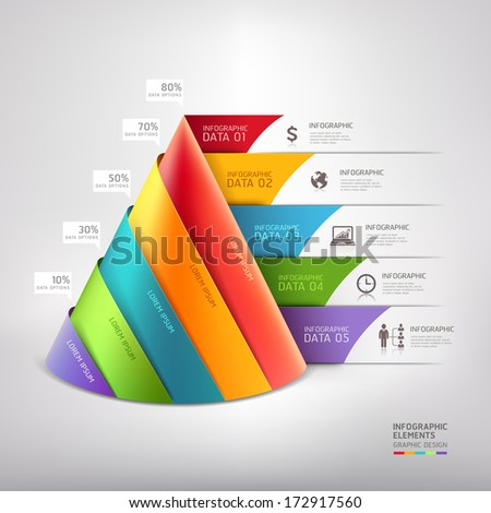 Modern cone 3D staircase diagram business Vector illustration can be used for workflow layout banner number options step up options web design infographics