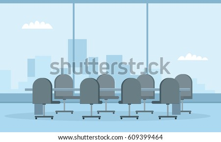 modern conference room with big
