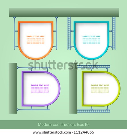 Modern construction, Web element design, vector, design