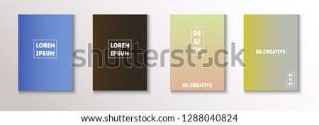 Modern Cover Design, Minimal Futuristic Vector Music Poster. Geometric Design, Waves, Zigzag, Lines, Stripes Corporate Identity. Magazine Minimal Cover, Banner. Simple Clean Journal Template #1288040824