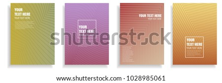 modern cover design with dynamic colorful halftone geometric gradient. vector template for magazine, presentation, brochure in a4 size  #1028985061