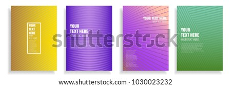 modern cover design with dynamic colorful halftone gradient. vector template for magazine, presentation, brochure, poster in a4 size #1030023232